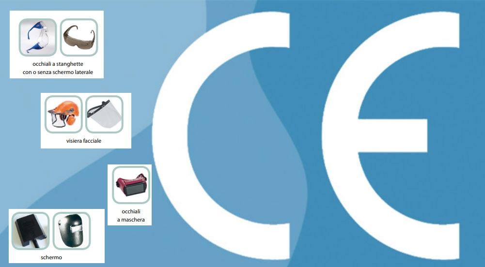 Marcatura CE Dispositivi di Protezione Individuale occhi e viso